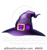 Vector Illustration of a Purple Witch Hat by AtStockIllustration