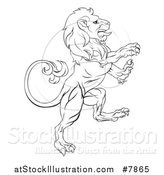 Vector Illustration of a Rampant Lion by AtStockIllustration