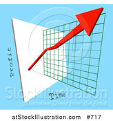 Vector Illustration of a Red Arrow Depicting an Increase of Profits on a Graph by AtStockIllustration