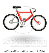 Vector Illustration of a Red Bicycle Hovering by AtStockIllustration