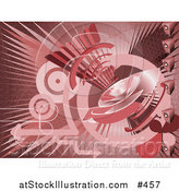 Vector Illustration of a Red Internet Background with a Loud Speaker by AtStockIllustration