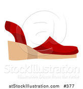 Vector Illustration of a Red Sandal Shoe by AtStockIllustration