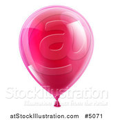Vector Illustration of a Reflective Pink Party Balloon by AtStockIllustration