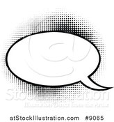 Vector Illustration of a Retro Black and White Pop Art Comic Styled Speech Balloon by AtStockIllustration