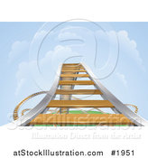 Vector Illustration of a Rising Roller Coaster by AtStockIllustration