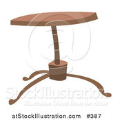 Vector Illustration of a Round Wooden Coffee Table by AtStockIllustration