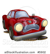 Vector Illustration of a Sad Broken down Car by AtStockIllustration