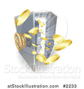 Vector Illustration of a Safe by AtStockIllustration