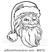 Vector Illustration of a Santa Claus Face by AtStockIllustration