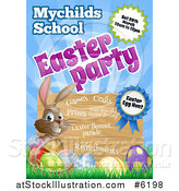 Vector Illustration of a School Party Easter Invitation Design by AtStockIllustration