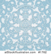Vector Illustration of a Seamless Blue Geometric Floral Background by AtStockIllustration