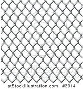 Vector Illustration of a Seamless Chain Link Fence Pattern by AtStockIllustration