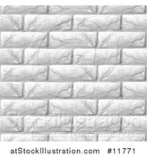 Vector Illustration of a Seamless White Brick Wall Texture Background by AtStockIllustration