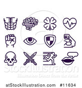 Vector Illustration of a Set of Video Game Attribute Icons by AtStockIllustration