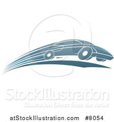 Vector Illustration of a Shiny Blue Sports Car Zooming by by AtStockIllustration