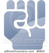 Vector Illustration of a Shiny Gradient Fisted Hand by AtStockIllustration