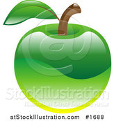 Vector Illustration of a Shiny Organic Green Apple by AtStockIllustration