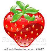 Vector Illustration of a Shiny Organic Strawberry by AtStockIllustration