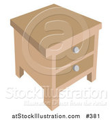Vector Illustration of a Side Table by AtStockIllustration