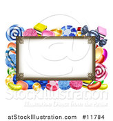 Vector Illustration of a Sign or Border of Candy by AtStockIllustration