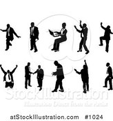 Vector Illustration of a Silhouetted Business People Collection Version 2 by AtStockIllustration