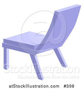 Vector Illustration of a Simple Blue Chair by AtStockIllustration