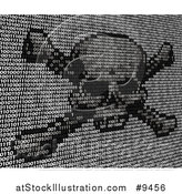 Vector Illustration of a Skull and Crossbones Made of Binary Code by AtStockIllustration