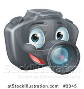 Vector Illustration of a Smiling Happy DSLR Camera Mascot by AtStockIllustration