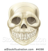 Vector Illustration of a Smiling Human Skull by AtStockIllustration