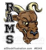 Vector Illustration of a Snarling Ram Head Mascot with Text by AtStockIllustration