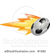 Vector Illustration of a Soccer Ball on Fire by AtStockIllustration