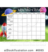 Vector Illustration of a Space Exploration Themed Reward Chart for Children by AtStockIllustration