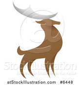 Vector Illustration of a Standing Stag Deer Buck by AtStockIllustration