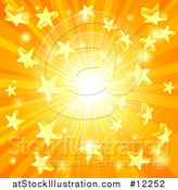 Vector Illustration of a Star Burst Sunset Background by AtStockIllustration