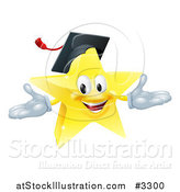 Vector Illustration of a Star Graduate Mascot by AtStockIllustration