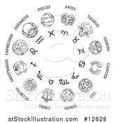 Vector Illustration of a Star Sign Astrological Horoscope Chart by AtStockIllustration