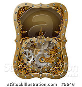 Vector Illustration of a Steampunk Clock Work Heart with Gears by AtStockIllustration