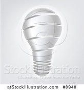 Vector Illustration of a Strip Light Bulb over Gray by AtStockIllustration