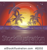 Vector Illustration of a Sunset Tropical Horizon by AtStockIllustration