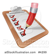 Vector Illustration of a Survey Check List by AtStockIllustration