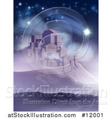 Vector Illustration of a the Star of David over Bethlehem by AtStockIllustration