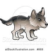 Vector Illustration of a Timber Wolf in Profile by AtStockIllustration