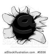Vector Illustration of a Torn Hole or Gun Shot by AtStockIllustration
