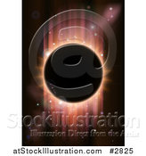 Vector Illustration of a Total Eclipse with Red Light on Black by AtStockIllustration