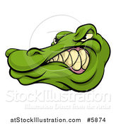 Vector Illustration of a Tough Snarling Alligator Mascot Head by AtStockIllustration