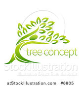 Vector Illustration of a Tree with Sample Text by AtStockIllustration
