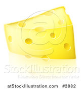 Vector Illustration of a Triangular Cheese Wedge by AtStockIllustration
