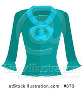 Vector Illustration of a Turquoise Blue Long Sleeved Shirt by AtStockIllustration