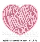 Vector Illustration of a Two Toned Love Heart with Happy Valentines Day Text in Side by AtStockIllustration