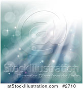 Vector Illustration of a Underwater Background of Sparkles Lights and Rays by AtStockIllustration